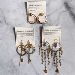 Melrose and Market Gold Tone Dangly Earrings